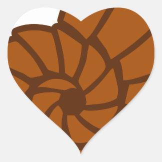 Sticker Cœur Mer Shell