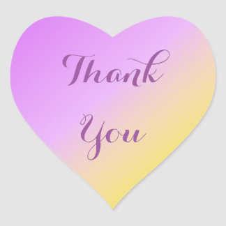 Sticker Cœur Merci Ombre de pourpre et d'or