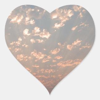 Sticker Cœur Messager de ciel