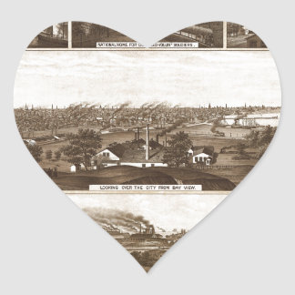 Sticker Cœur Milwaukee 1882