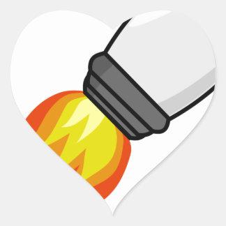 Sticker Cœur Missile de Rocket