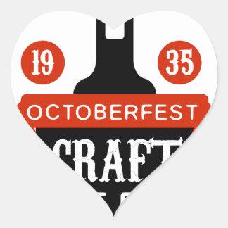 Sticker Cœur Modèle de conception de logo de bière de métier
