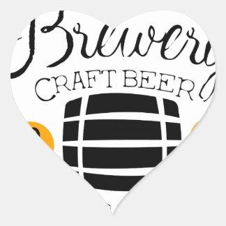 Sticker Cœur Modèle de conception de logo de brasserie avec le