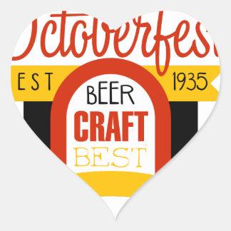 Sticker Cœur Modèle de conception de logo d'Oktoberfest