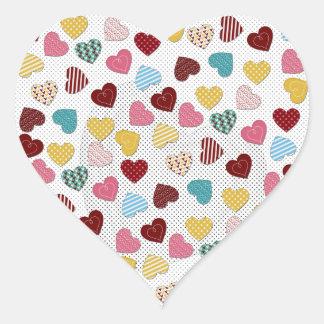 Sticker Cœur Motif à la mode adorable mignon de coeurs
