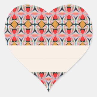 Sticker Cœur Motif de diamant du bijou n avec le texte EDITABLE