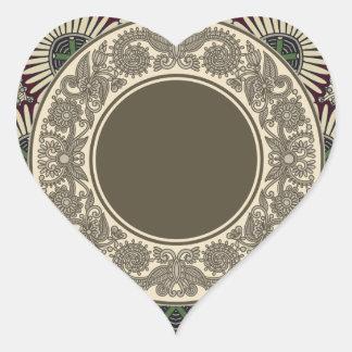 Sticker Cœur Motif décoratif