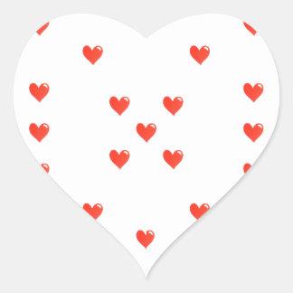 Sticker Cœur Motif mignon de motif de coeurs
