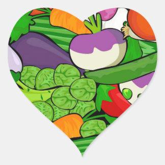 Sticker Cœur Motif végétal