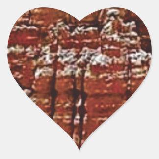 Sticker Cœur mur de roche de forme de forme d'érosion