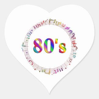 Sticker Cœur musique 80s