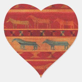 Sticker Cœur Mustangs gitans sauvages
