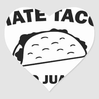 Sticker Cœur N'a dit aucun Juan jamais