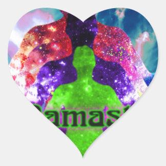 Sticker Cœur Namaste