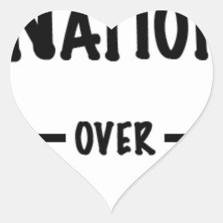 Sticker Cœur Nation au-dessus de collection de cadeau de partie