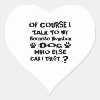 Sticker Cœur Naturellement je parle à ma conception de chien de