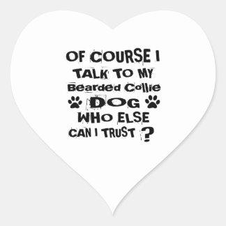 Sticker Cœur Naturellement je parle à mes conceptions barbues