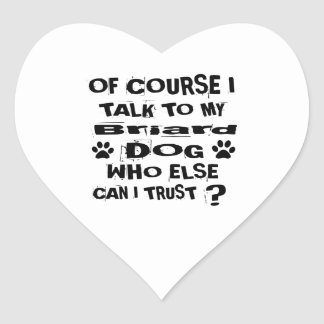 Sticker Cœur Naturellement je parle à mes conceptions de chien