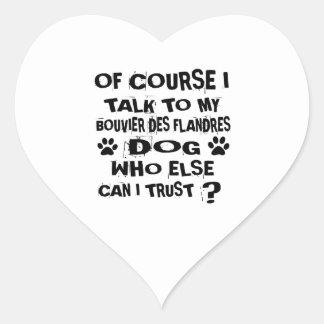 Sticker Cœur Naturellement je parle à mon chien De de DES