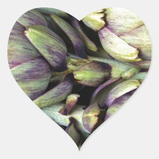 Sticker Cœur Natures mortes siciliennes avec des artichauts