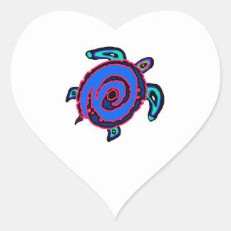 Sticker Cœur Navigation tribale