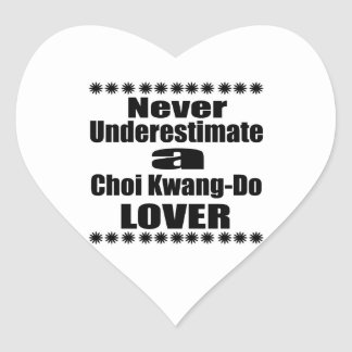Sticker Cœur Ne sous-estimez jamais Choi Kwang-Font amant