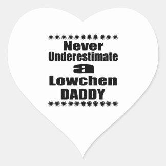 Sticker Cœur Ne sous-estimez jamais le papa de Lowchen
