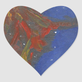 Sticker Cœur Nébuleuse