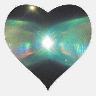 Sticker Cœur Nébuleuse de Twin Jet