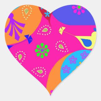 Sticker Cœur New Delhi