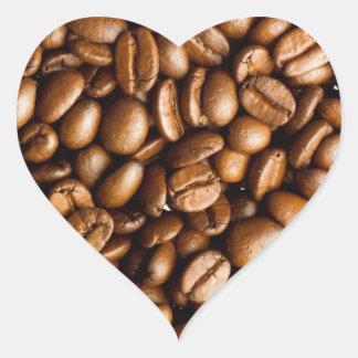 Sticker Cœur Nom personnalisable de grains de café