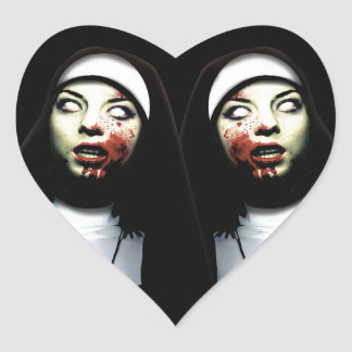 Sticker Cœur Nonnes d'horreur