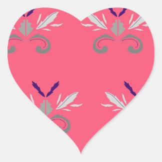 Sticker Cœur Nostalgie rose de luxe d'éléments