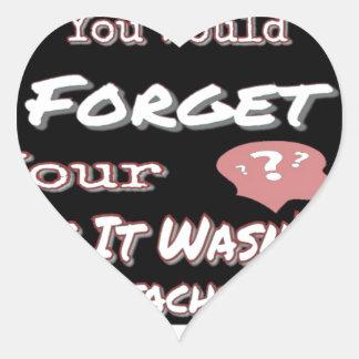 Sticker Cœur N'oubliez pas votre tête
