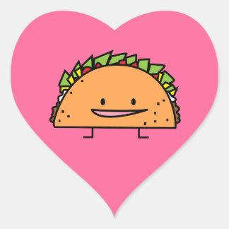 Sticker Cœur Nourriture heureuse de Mexicain de Salsa de viande