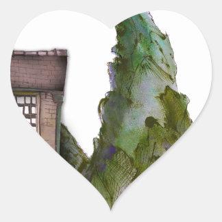 Sticker Cœur nous aimons l'hôtel de boutique de Yorkshire