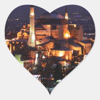 Sticker Cœur Nuit de Hagia Sophia