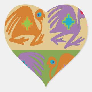 Sticker Cœur Oiseaux péruviens