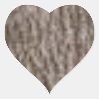 Sticker Cœur ondulations de l'écorce blanche