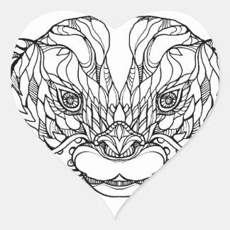 Sticker Cœur Oriental De petite taille-a griffé l'art de