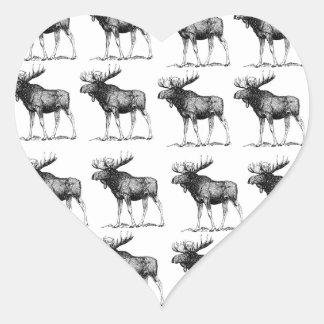 Sticker Cœur orignaux de répétition d'orignaux
