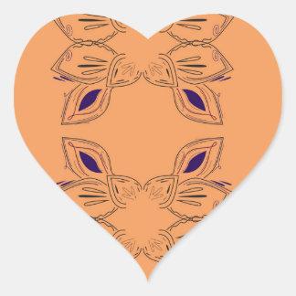 Sticker Cœur Ornements de luxe beiges