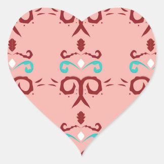 Sticker Cœur Ornements/T-shirts ROSES ROUGES