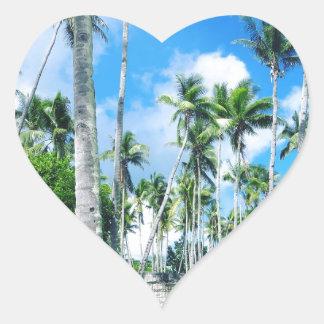 Sticker Cœur Paradis dans le Pacifique