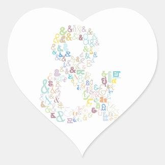 Sticker Cœur Pastels d'esperluète
