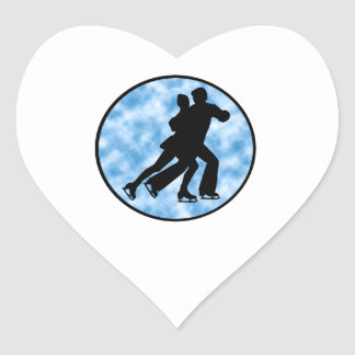 Sticker Cœur Patin de couples