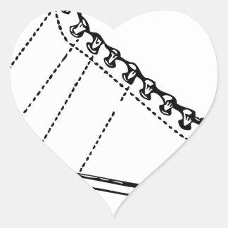 Sticker Cœur Patin de glace
