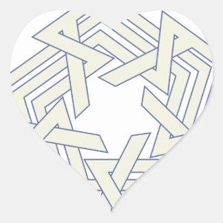 Sticker Cœur Penta