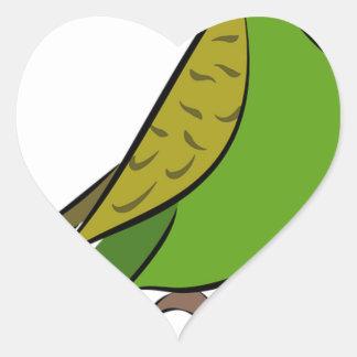 Sticker Cœur Perruche