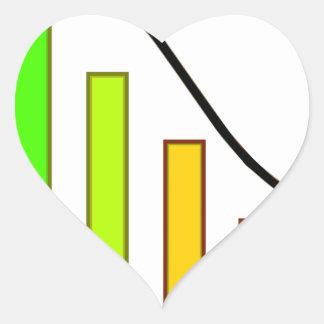 Sticker Cœur Perte de diagramme de progrès